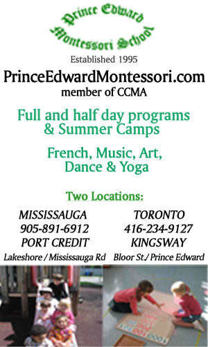 Prince Edward Montessori member of the CCMA with two locations Mississauga and Toronto -